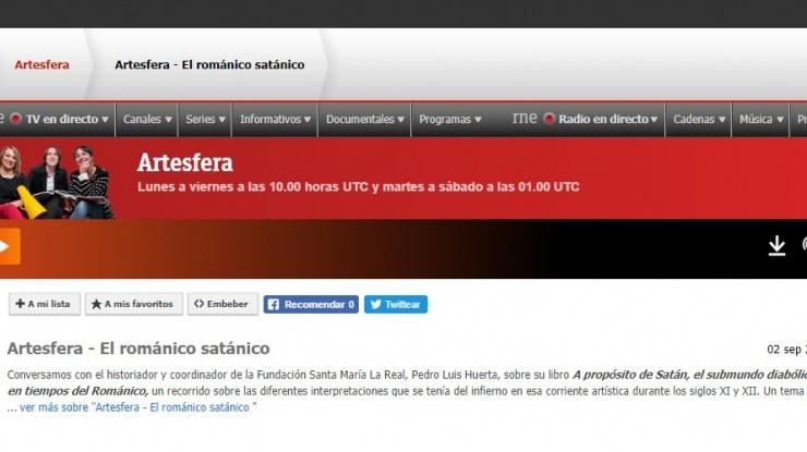 Captura del pantalla de la web de RTVE a la carta en la que se visualiza el programa
