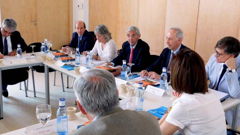 Un momento de la reunión del Patronato de la Fundación Santa María la Real en Aguilar de Campoo